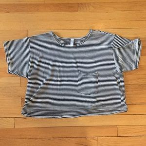 American Apparel black and white stripped T-shirt